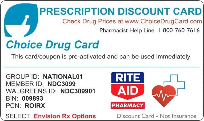 Rite Aid Pharmacy Discount Card